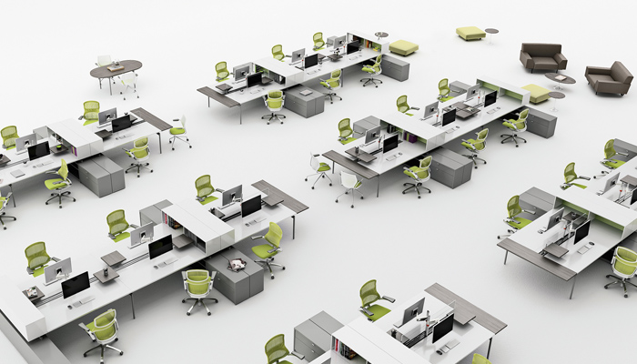 Design process complete business interiors for Office space planner online